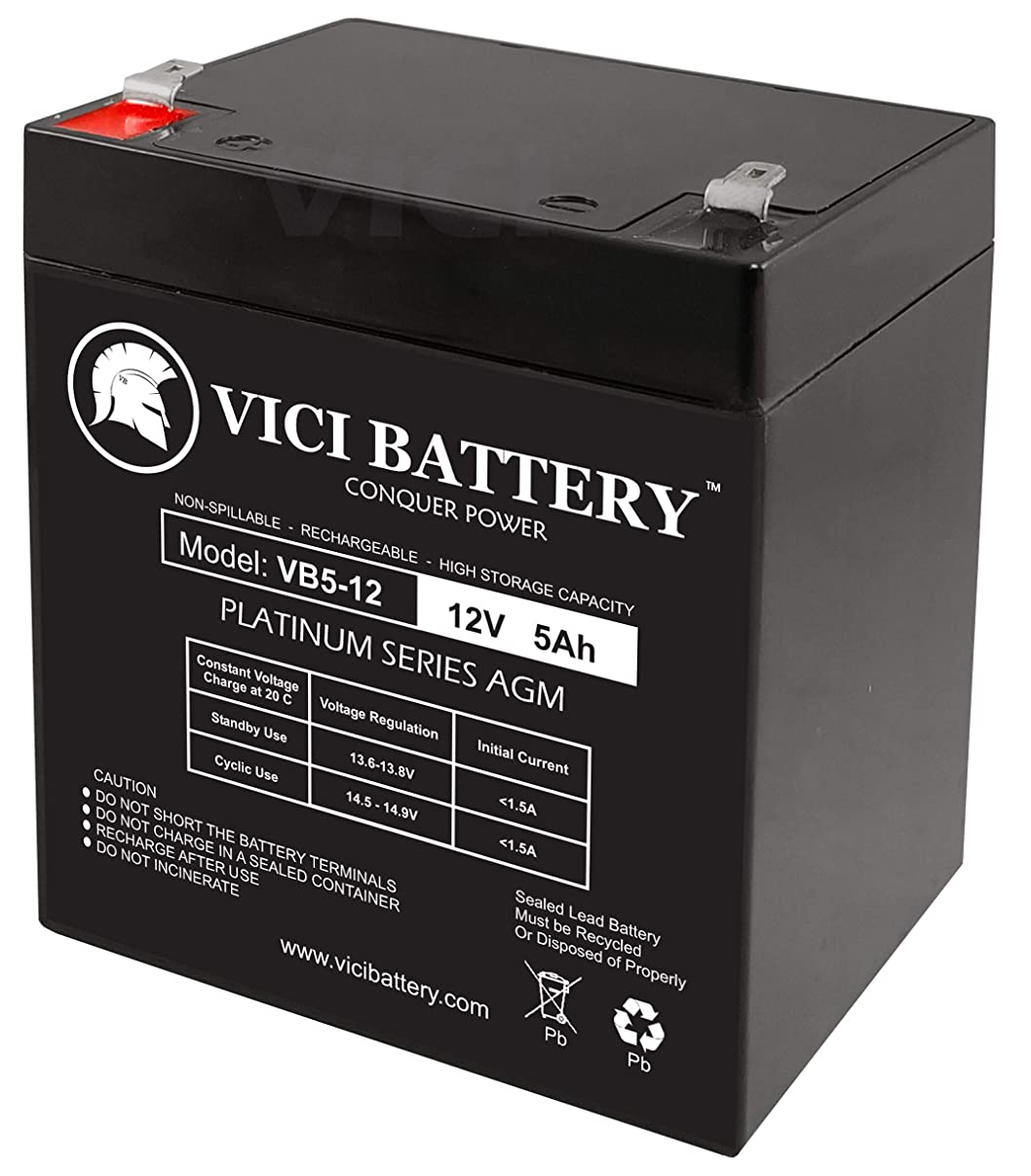 VICI Battery 12V 5AH SLA Battery Replacement for EB1250F2, ELB 1250A Brand Product