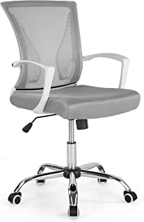 Poly and Bark Chartwell Office Chair in White/Grey