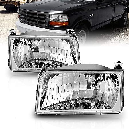 Head Lamp Door Set of 2 LH /& RH Side Fits Ford F-100 F-150 F-250 F-350 Bronco