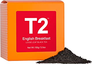 T2 Tea English Breakfast Loose Leaf Black Tea in Box, 3.5 Ounce (100g)