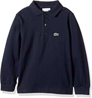 Boy Long Sleeve Classic Solid Pique Polo
