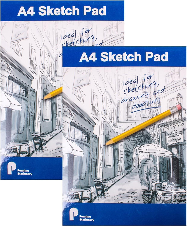 2x A4 Flip-Up Sketch Pads With 50 Pages Each (70gsm) B07BHTZP5V | Üppiges Design