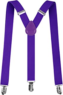 Livingston Unisex Clip-On Adjustable Elastic Suspenders - Assorted Colors