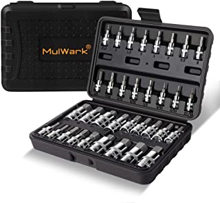 MULWARK Premium Master 3/8, 1/4, 1/2 in. Drive Hex Bit Socket Set Automotive,Bike,Motorcycle& ATV | SAE & Metric S2 Steel ...