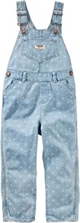 OshKosh B'Gosh Baby Girls' Dot Print Denim Overalls