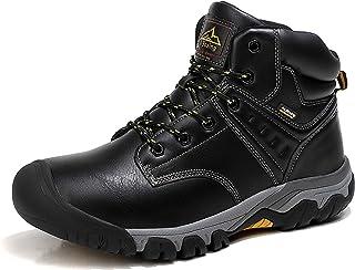 AX BOXING Bottes Homme Hiver Bottines Randonnée Trekking Chaudes Fourrées Chaussures Taille 41-46