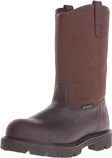 Men's Homeland Steel Toe Wellington-M Work Boot, Brown, 12 W US