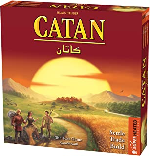Catan Base Game | 3-4 Players | Official Version | English and Arabic Language | Family Game For Ages 10+ | Board Game - S...