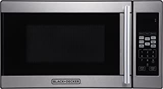 Black + Decker 0.7 Cubic Foot 700 Watt Stainless Steel Microwave with Turntable