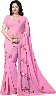 620b18655 Pinks Women's Sarees: Buy Pinks Women's Sarees online at best prices ...