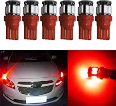YaaGoo License Plate map dome Lights Lamp map,T10 168 194 2825 W5W,Red,6pcs