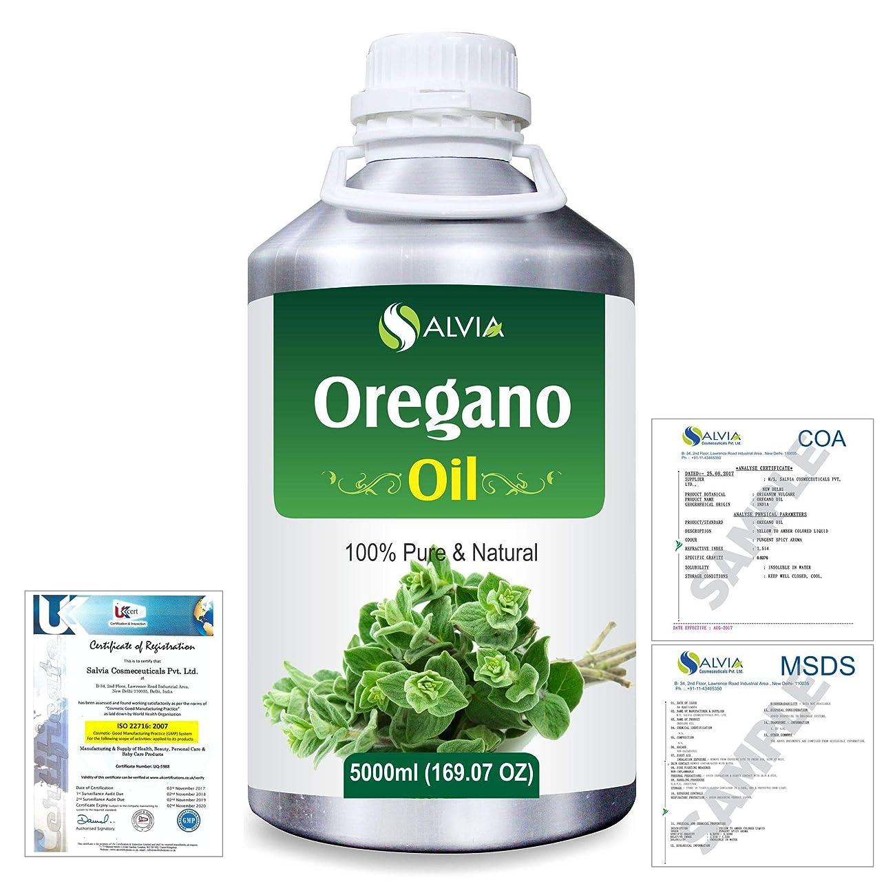 危険を冒します効能ある優先Oregano (Origanum vulgare) 100% Natural Pure Essential Oil 5000ml/169fl.oz.