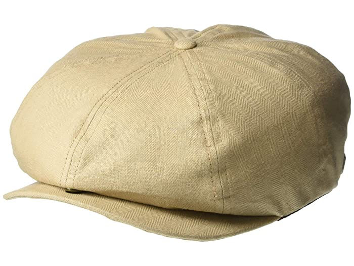 1920s Mens Hats & Caps | Gatsby, Peaky Blinders, Gangster Brixton Brood Snap Cap Sandstone Caps $39.00 AT vintagedancer.com