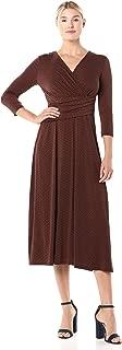 Chaus Women's 3/4 Sleeve Elemental Forms Wrap Dress