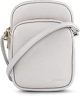 N\C Damen Schultertasche PU Leder Handtaschen Handy Umhängetasche Frauen Brieftasche Geldbörse mit Verstellbar Abnehmbar S...