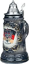 Beer Steins by King - Black German (Deutschland) Flag and CoA German Beer Stein (Beer Mug) 0.5l