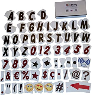 KitAbility Premium Social 4 Inch Set for White Message Board Sidewalk Signs Includes 350 Letters, Numbers, Emoji, Symbols, Arrows, and Punctuation