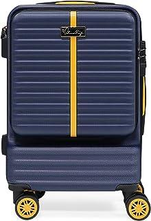 BlissTrip Extensible Valise à Main Rigide et Robuste avec roulettes pivotantes, 1 pièce, Bleu foncé, 57cm…