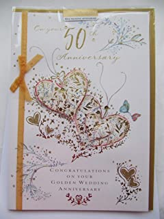 Tarjeta de felicitación de 50 Aniversario de Boda de Gran Gama ...