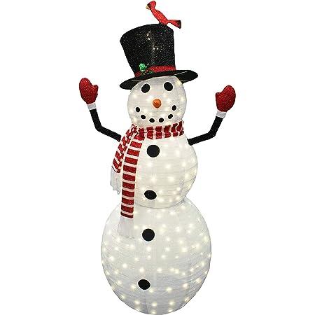 "60/"" Christmas Lighted POP UP Snowman Yard Decoration Display 3D"