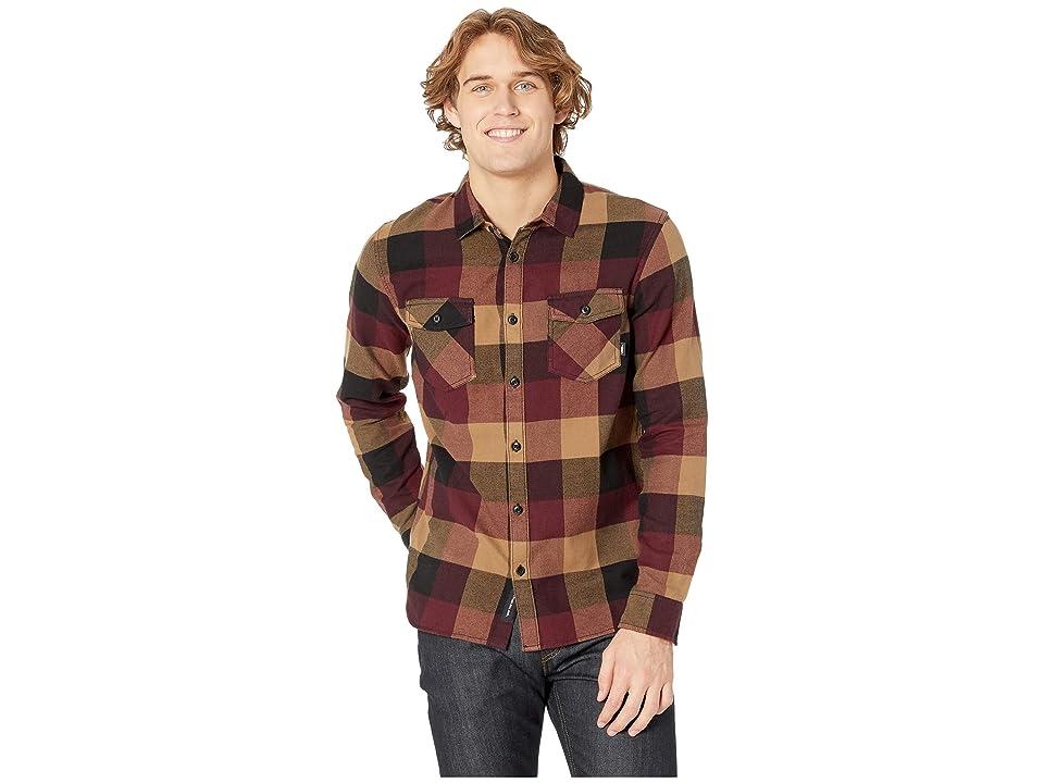 Vans Box Long Sleeve Flannel (Port Royale/Dirt) Men