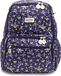 JuJuBe x Harry Potter Zealous Backpack | Lightweight, Travel-Friendly, Stylish Diaper Bag or Backpack for Kids and Adults, Changing Pad Included | Flying Keys
