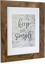 HomeMe 11x14 Picture Frame - Made to Display Pictures 8x10 with Mat or 11x14 Without Mat - Wide Molding - Wall Mounting Material Included
