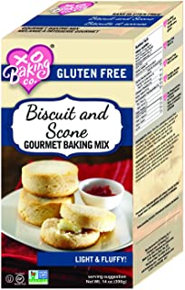 XO Baking Biscuit and Scone Mix - Fluffy Delicious Gluten-Free Biscuit Mix - Non GMO Preservative Free Scone Mix (14 Ounce...