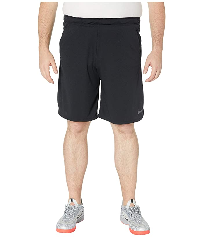 Nike Big Tall Dry Shorts 4.0 (Black/Dark Grey) Men