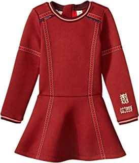 Scotch & Soda Girls' Dress in Neoprene Quality & Embroidered Tapes