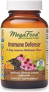 MegaFood, Immune Defense, Supports Immune and Cellular Health, 5-Day Intense Wellness Supplement Vegan, 30 Tablets (15 Ser...