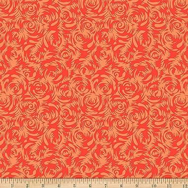 FreeSpirit Silk Road Persian Rose Orange Fabric by the Yard