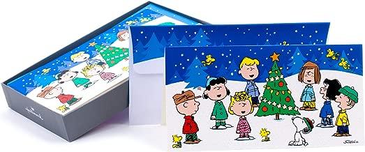 Hallmark Boxed Christmas Cards, Peanuts Gang (16 Cards and 17 Envelopes)