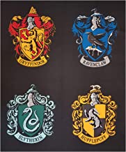 Camelot Fabrics Camelot Wizarding World Harry Potter House Crests 36'' Panel Fabric, Black