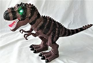 Tyrannosaurus Rex TREX Walking Dinosaur LED Eyes & Tongue with Realistic Roars Sounds Dinosaur Century Family (Brown)