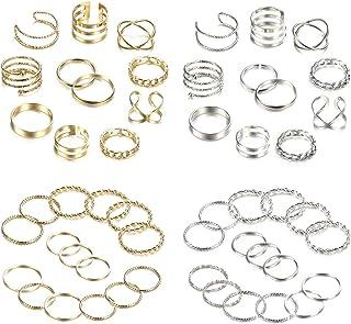 YADOCA 52 Pezzi Set Anelli Argento Oro Midi Ring Bohemian Knuckle Anell Set Moda Finger Vintage Anelli Gioielli Anello per...