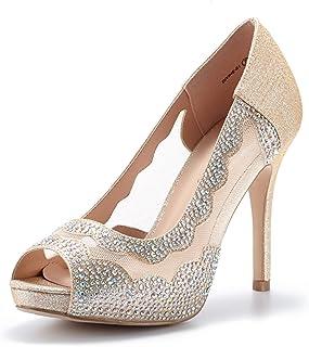 a5d3b870a76e DREAM PAIRS Women s Divine-01 High Heels Dress Pump Shoes