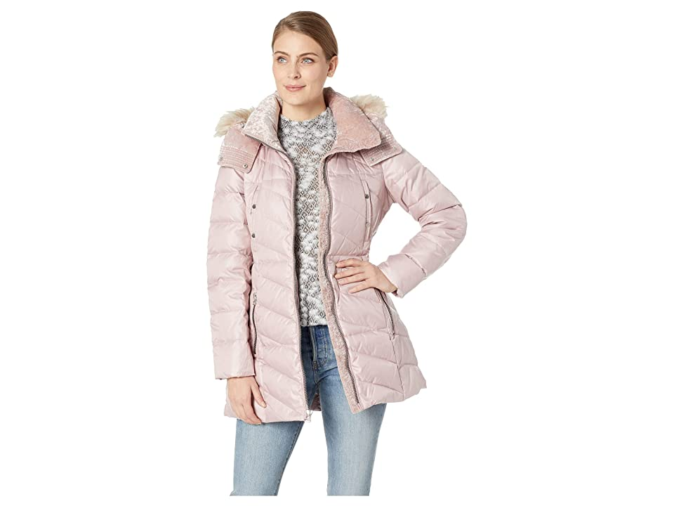 Marc New York by Andrew Marc Chelsea Down Filled Velvet Trim Faux Fur Trim Hood (Shell) Women