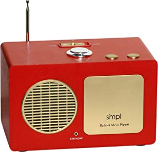 Sponsored Ad - SMPL One-Touch Music Player, Audiobooks + MP3, Quality-Sound, Durable Wooden Encloser with Retro Look, 4GB ...