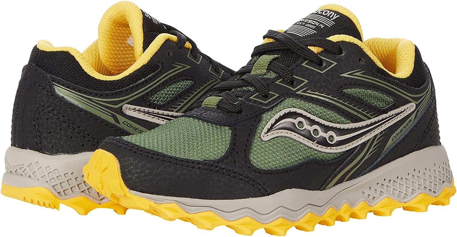 Saucony Cohesion TR14 LACE to San Gorgeous Francisco Mall Toe Olive Running Black Yell Shoe