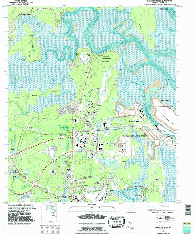 Harrietts blueff GA topo map, 1 24000 Scale, 7.5 X 7.5 Minute, Historical, 1994, Updated 1995, 27.8 x 23 in