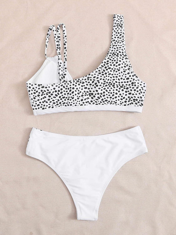 SOLY HUX Women's Bathing Suits High Cut Bikini 2 Piece Swimsuits