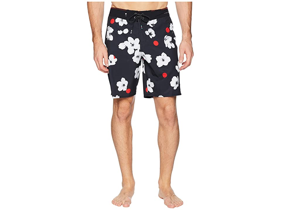 Quiksilver Highline Cherry Pop 19 Boardshorts (Black) Men