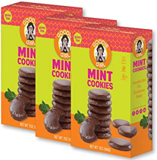 Goodie Girl Cookies, Mint Gluten Free Cookies, Chocolate Mint Wafer Fudge Covered Cookies, Peanut Free and Gluten Free Delicious Snack Cookies, Kosher (7oz Box, Pack of 3)
