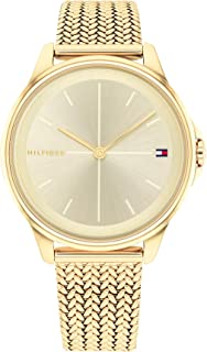 TOMMY HILFIGER DELPHINE WOMEN's CHAMPAGNE DIAL WATCH - 1782358