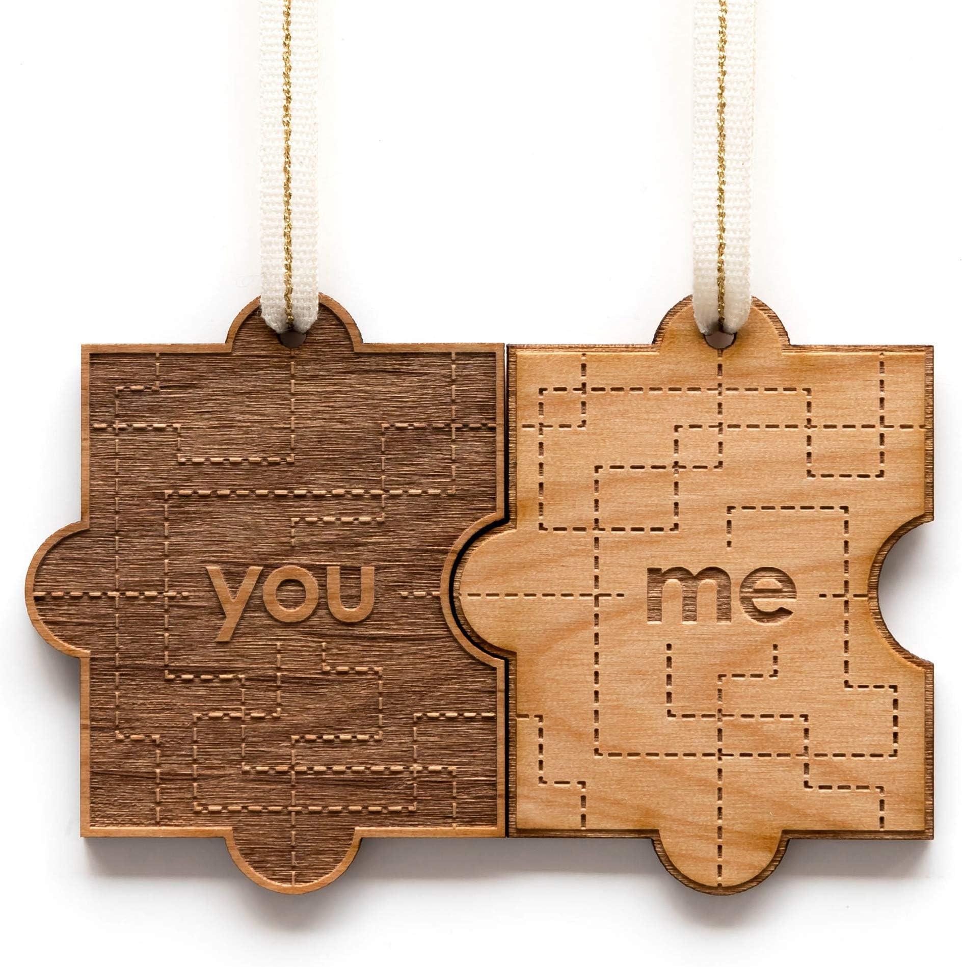 Wooden whale ornament 5th anniversary gift oak ornament