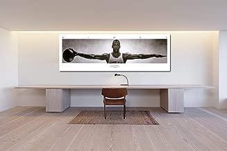 Michael Jordan Wings Panoramic& 100 Bill Cash Poster Canvas Print Home Decor Wall