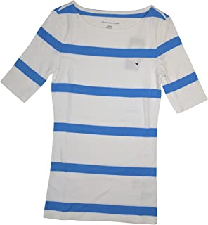 Tommy Hilfiger Women's 3/4 Sleeve Striped T-Shirt