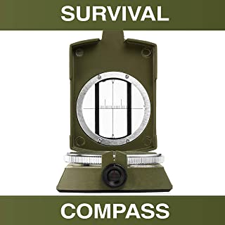 Swiss Safe Multifunction Military Survival Compass - Premium Navigational Compass for Camping, Hiking, Outdoors & Emergenc...