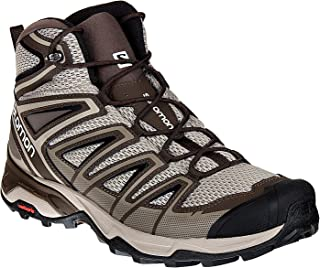 Salomon L40127400 X Ultra Mid 3 Aero Synthetic Hiking Shoes, Adult (Brown)